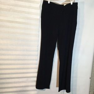 Navy wide leg slacks